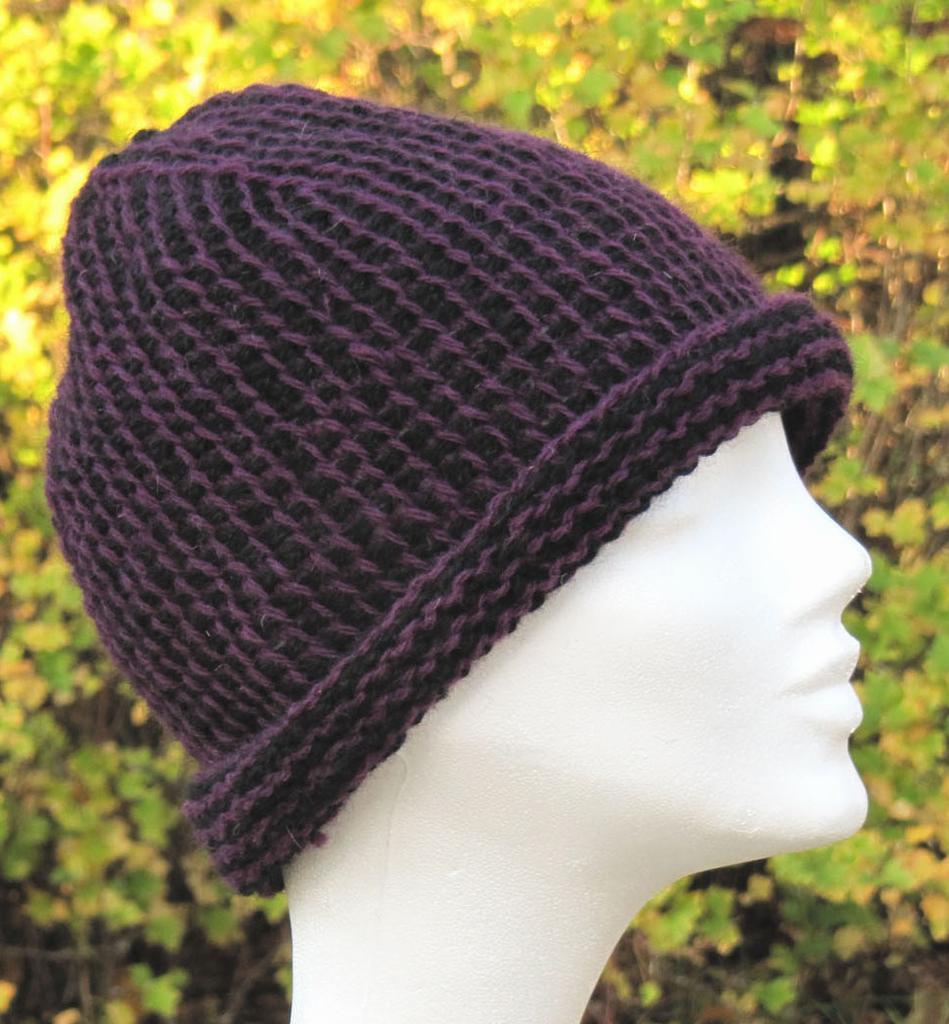 Crochet Patterns In The Round : 1169 Cloche in Tunisian crochet in the round - Headgear ...