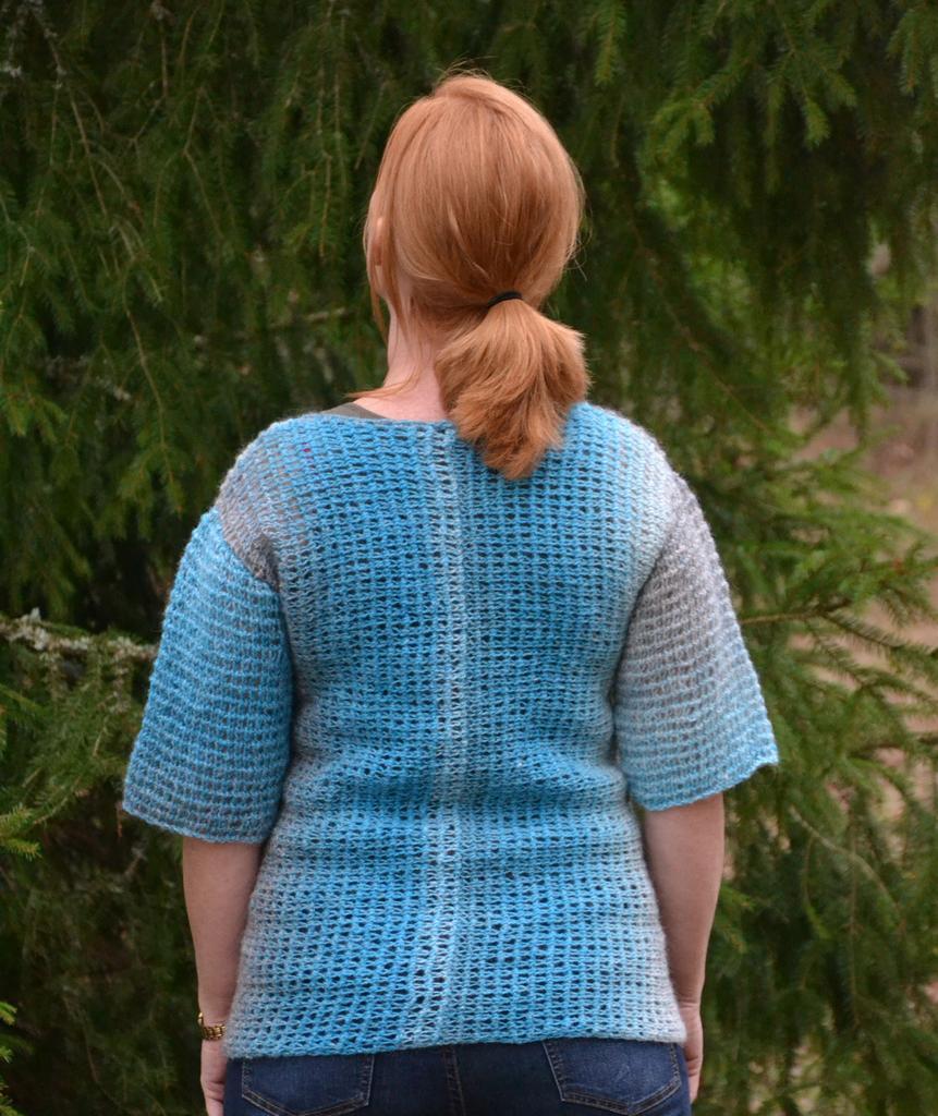 1555 Sweater Tunisian crochet side ways - Sweaters ...