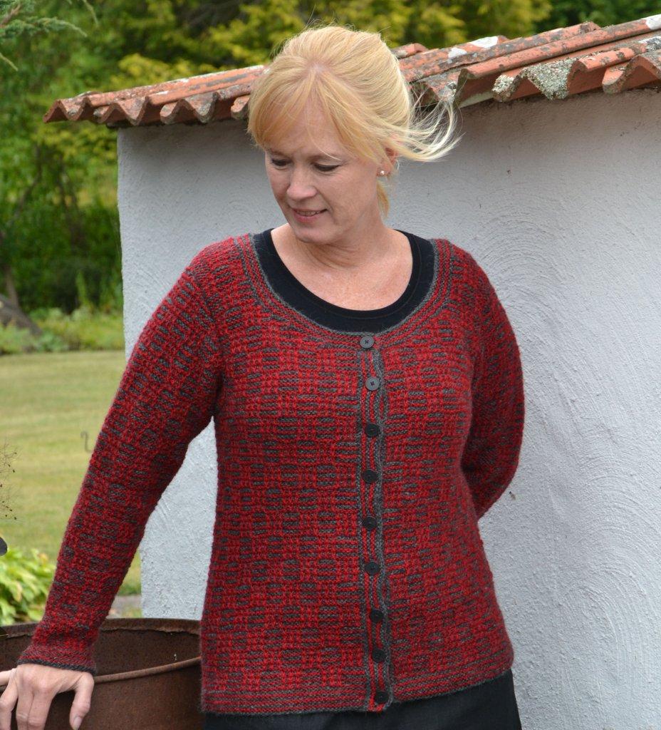 Plain Knitted Cardigan Pattern : 1633 Cardigan in plain knit tweed - Cardigans - Patterns wool - Knitting &...