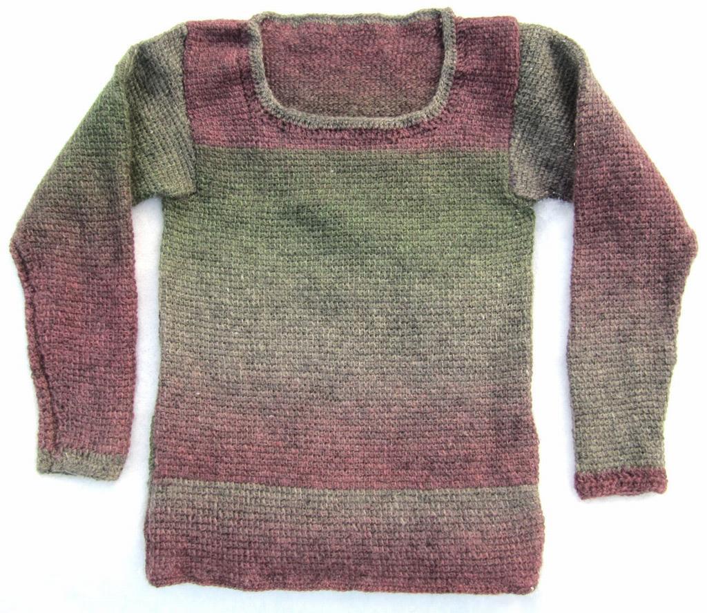 1537 Sweater in Tunisian crochet - Sweaters & waistcoats ...