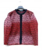 3140 - Cardigan with four-leaf clover pattern