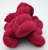 6/2-1131 Red Cerise on white wool