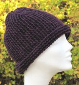 1169 Cloche in Tunisian crochet in the round