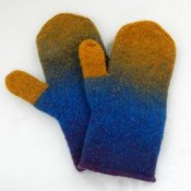 1270 Easy to make felted mittens