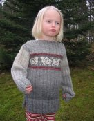 1408 Sweater ribbed with sheep