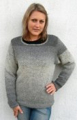 1506 Sweater in moss stitch
