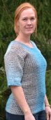 1555 Sweater Tunisian crochet side ways