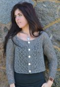1620 Cardigan with lace pattern
