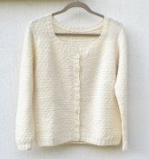 1626 Cardigan with grid pattern