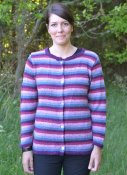 1629 Cardigan with stripes