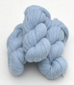6/2-4121 Light Blue on white wool