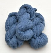 6/2-4141 Nordic Blue on white wool