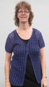 2238 Cardigan crochet with eyelet pattern