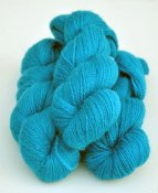 6/2-4101 Turquoise on white wool