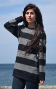 3006 - Sweater long with stripes
