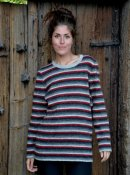 3079 - Sweater with multi coloured stripes