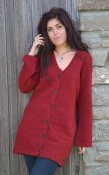 3142 - Cardigan long with V-neck