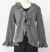 3163 - Cardigan with flounce