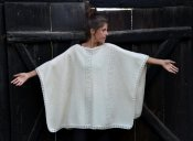 3226 - Poncho with lace pattern