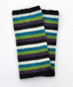 3420 - Wrist warmer with multi coloured stripes