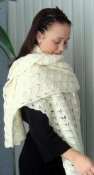 3630 - Shawl wide with wavy pattern