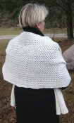 3632 - Shawl wide with eyelet pattern