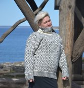 3737 - Wool sweater 'Ramsnäs' with turtle neck