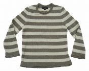 5004 - Linen sweater with stripes and rolled edges