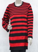 5027 - Linen sweater with irregular stripes