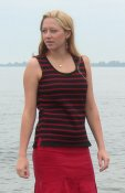 5094 - Tank top with stripes in double knit