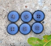 Button metal - blue 20 mm