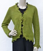 5127 - Cardigan with jagged edge and  tie waist