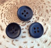 Leather Button - black 20 mm