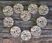 Button metal -bronz/white 18 mm