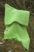 5977 - Linen scarf with ruffle