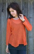 7022 - Linen sweater with godet