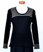 7036 - Linen sweater with stripes