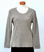 7038 - Linen sweater with striped folds