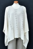 7045 - Poncho with lace pattern