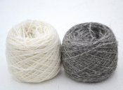 Thin yarn, white & grey