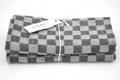 "Kitchen towel ""Check"" black/white twin pack"
