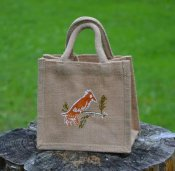 "Jute bag ""Birds"" small"