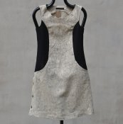 Dress with circles_rose_black