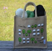 "Jute bag ""Tree and lamb"""