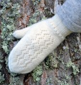 "3401 - Mitten ""Lace"" in double knit"