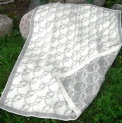 "Blanket ""Sandby"" white/grey"