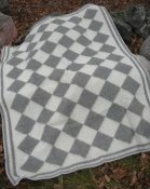 "Blanket ""Persnäs"" 180x130 cm, (Medium Grey/White)"