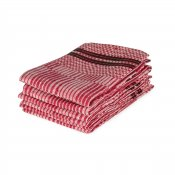 "Kitchen towel ""Domino"" Red/White, single pack"