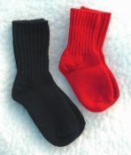 Sock ribbed thick size 20-34