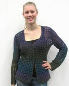 1623 Cardigan in single ply